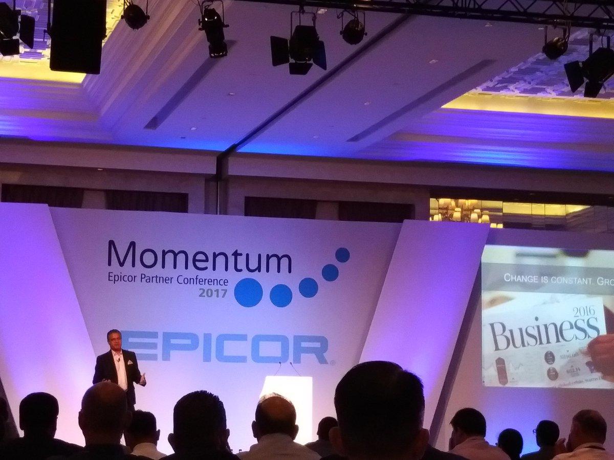 Epicor Partner Conference (Momentum) 2017, July 11-13, 2017, at the Waldorf Astoria Dubai Palm Jumeirah, Dubai, UAE